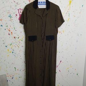 Women's long skirt button-down dress